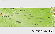 Physical Panoramic Map of Meiktila