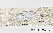 Classic Style Panoramic Map of Mogok