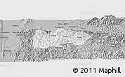 Gray Panoramic Map of Mogok