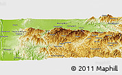 Physical Panoramic Map of Mogok
