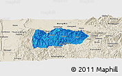Political Panoramic Map of Mogok, shaded relief outside