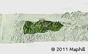 Satellite Panoramic Map of Mogok, lighten