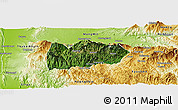 Satellite Panoramic Map of Mogok, physical outside