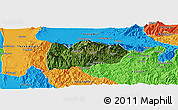 Satellite Panoramic Map of Mogok, political outside