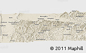 Shaded Relief Panoramic Map of Mogok