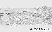 Silver Style Panoramic Map of Mogok