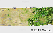 Satellite Panoramic Map of Myitha