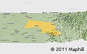 Savanna Style Panoramic Map of Myitha