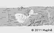 Gray Panoramic Map of Patheingyi