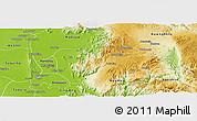 Physical Panoramic Map of Patheingyi
