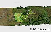Satellite Panoramic Map of Patheingyi, darken