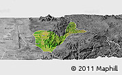 Satellite Panoramic Map of Patheingyi, desaturated