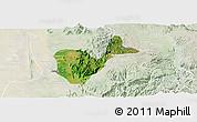 Satellite Panoramic Map of Patheingyi, lighten