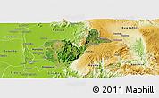 Satellite Panoramic Map of Patheingyi, physical outside