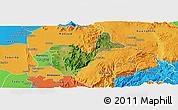 Satellite Panoramic Map of Patheingyi, political outside