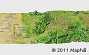 Satellite Panoramic Map of Patheingyi