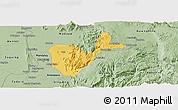 Savanna Style Panoramic Map of Patheingyi