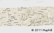 Shaded Relief Panoramic Map of Patheingyi