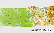 Physical Panoramic Map of Pyinmana