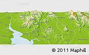 Physical Panoramic Map of Bilin