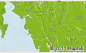 Physical 3D Map of Thaton