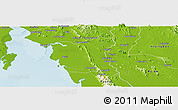 Physical Panoramic Map of Thaton