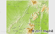 Physical 3D Map of Banmauk