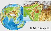 Physical Location Map of Banmauk