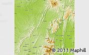 Physical Map of Banmauk