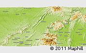 Physical Panoramic Map of Banmauk