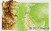 Physical Panoramic Map of Kale