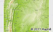 Physical Map of Kalewa
