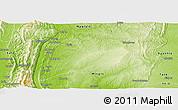 Physical Panoramic Map of Kalewa