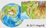 Physical Location Map of Kanbalu