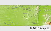 Physical Panoramic Map of Kanbalu