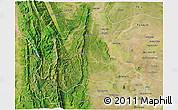 Satellite 3D Map of Kani