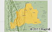 Savanna Style 3D Map of Kani