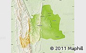 Physical Map of Kani, lighten