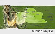 Physical Panoramic Map of Kani, darken