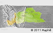 Physical Panoramic Map of Kani, desaturated