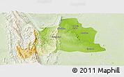 Physical Panoramic Map of Kani, lighten