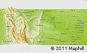 Physical Panoramic Map of Kani