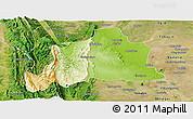Physical Panoramic Map of Kani, satellite outside
