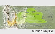 Physical Panoramic Map of Kani, semi-desaturated