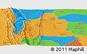 Political Panoramic Map of Kani