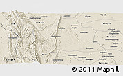 Shaded Relief Panoramic Map of Kani
