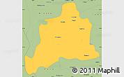 Savanna Style Simple Map of Kani