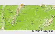 Physical Panoramic Map of Katha