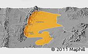 Political Panoramic Map of Katha, desaturated