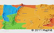 Political Panoramic Map of Katha
